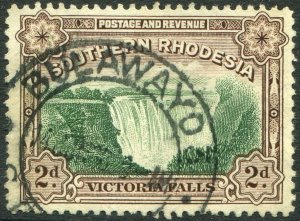 SOUTHERN RHODESIA-1941 2d Green & Chocolate Perf 12½ Sg 35 FINE USED V48917
