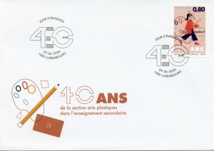 Luxembourg Art Stamps 2020 FDC Arts Section Secondary Education 40 Years 1v Set