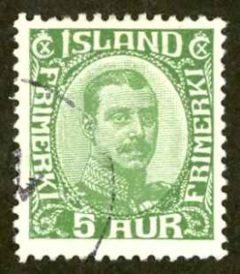 Iceland Sc# 111 Used 1920-1922 3a Christian X
