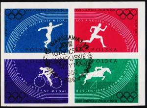 Poland. 1960 60g(Block of 4) Imperf. S.G.1160/1163 Fine Used