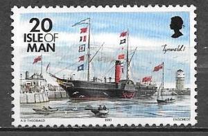 Isle of Man 1993 20 pence Tynwald ship, mint never hinged, Scott #543