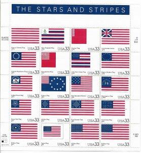 USA 3403 MNH SHEET THE STARS AND STRIPES