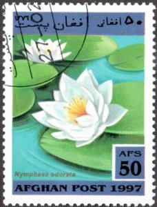 Afghanistan sw1767 - Cto - 50af Fragrant Water-lily (1997)