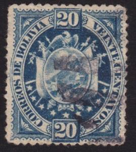 BOLIVIA  An old forgery of a classic stamp.................................69107