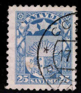 Latvia Scott 122 Used coat of arms stamp