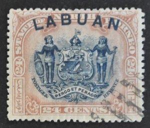 DYNAMITE Stamps: Labuan Scott #82 – USED