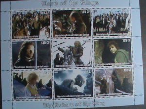 CONGO STAMP:2003- LORD OF THE RINGS MNH SHEET
