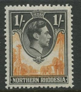 Northern Rhodesia -Scott 40 - KGVI Definitive -1938- MNH - Single 1/- Stamp