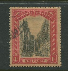 Bahamas -Scott 71 - Queens Staircase Issue -1921 - Used - Single 1p Stamp