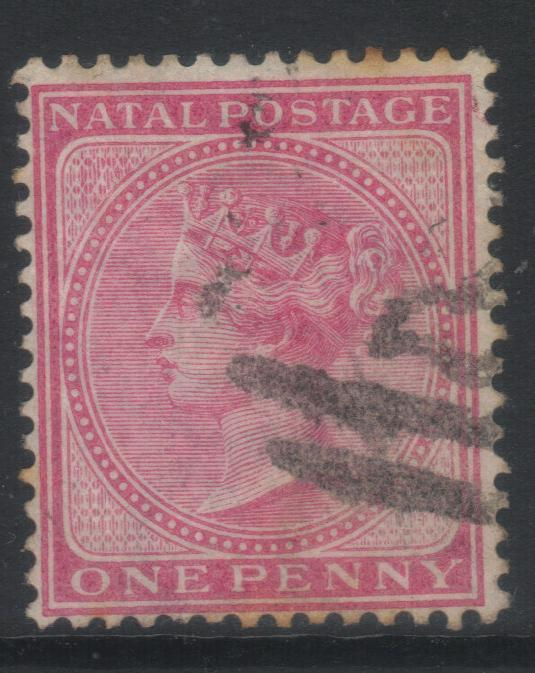 NATAL 1874-1879 CROWN CC SG67 USED CAT £8+