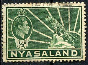 Nyasaland; 1938: Sc. # 54: O/Used Single Stamp