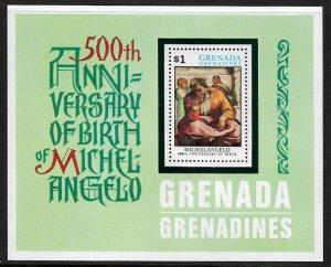 Grenada, Grenadines #74 MNH S/Sheet - Michelangelo