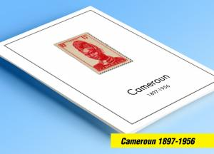 COLOR PRINTED CAMEROUN 1897-1956 STAMP ALBUM PAGES (35 illustrated pages)