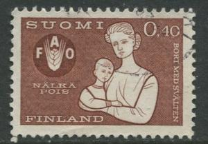 Finland - Scott 416 - Freedom from Hunger -1963 - Used - Single 40p stamp