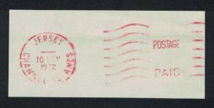 Jersey Postal Meter 'Postage Paid 10 Nov 1972'