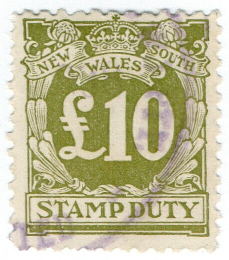(I.B) Australia - NSW Revenue : Stamp Duty £10