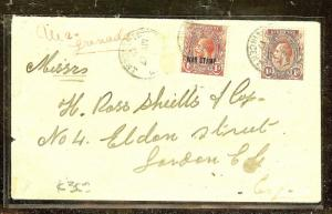 ST VINCENT (P2104B)  1916  WAR STAMP +1D TO LONDON