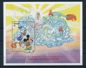[22399] Gambia 1997 Disney Mickey and Donald Duck at White Dragon House MNH