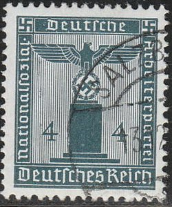 Stamp Germany Official Mi 157 Sc S14 1942 WW2 Fascism Occupation Franchise Used