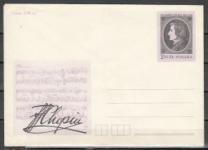 Poland, Composer Frederick Chopin on a Postal Envelope. *