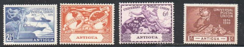 Antigua Sc 120-3 1949 75th Anniversary UPU stamp set mint