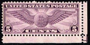 US STAMP #C16 – 1931 5c Rotary Pf 10-1/2x11 UNUSED NG STAMP