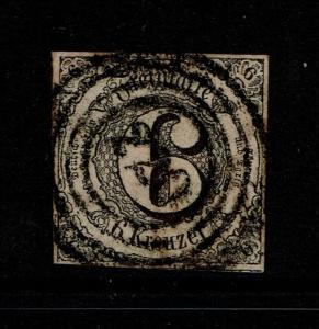 Thurn and Taxis SC# 45, Used (Noted Mi# 9), some toning - S3762