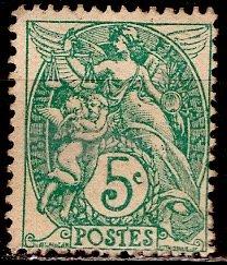France; 1900: Sc. # 113: *+/MLH Single Stamp