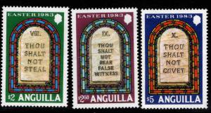 ANGUILLA Scott 533-535 MNH** High value stamps
