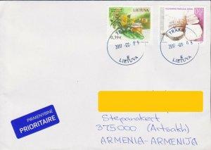 LITHUANIA KULINARIA AIR MAIL COVER  TO ARTSAKH NAGORNO KARABAKH ARMENIA R17891