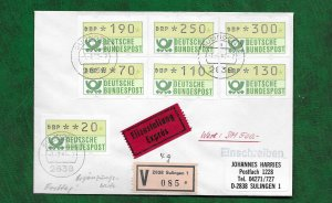 GERMANY 1982 AUTO LABELS ON FDC
