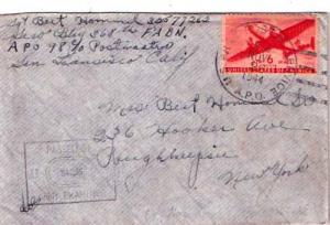 United States A.P.O.'s 6c Transport 1944 U.S. Army Postal Service, A.P.O. 98 ...