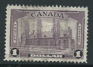 Canada  SG 367  space filler badly creased seen on reverse