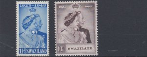 SWAZILAND        1948 - 49  ROYAL SILVER WEDDING  MH