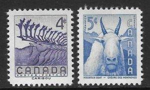 CANADA SG486/7 1956 NATIONAL WILDLIFE WEEK MNH