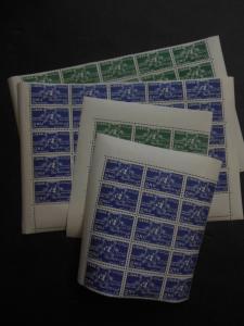 LEBANON : 1956. Scott #C221-22 United Nations. 40 sets VF, Mint NH. Cat $443.00.