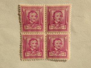 U. S. #986  Mint block of 4  OG  NH