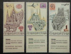 Czechoslovakia C59-64. 1967 PRAGA 1962, with labels, NH