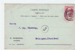 Belgium 1909  stationary  stamped post card  R20375
