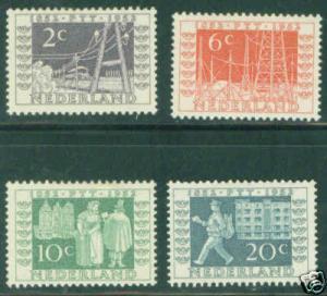 Netherlands Scott 332-5 MH* 1952 set CV$9.60