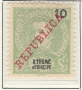 Portugal ST. THOMAS AND PRINCE ISLANDS 1911 10r MH* A5P55F5