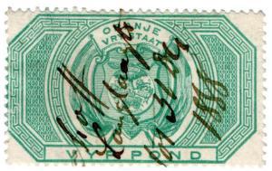 (I.B) Orange Free State Revenue : Duty Stamp £5