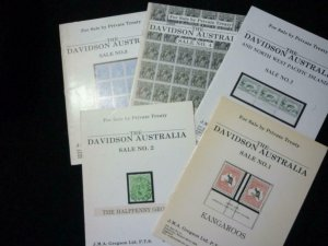 5 THE DAVIDSON AUSTRALIA PRIVATE TREATY SALE CATALOGUES