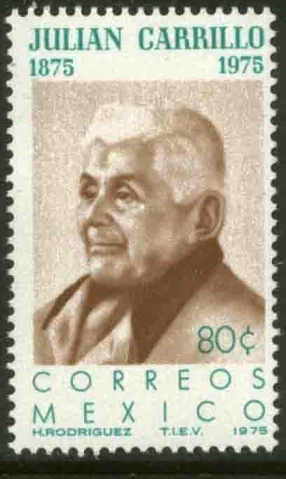 MEXICO 1088, 80¢ Birth Centenary of Julian Carrillo, Composer MINT, NH. VF.