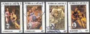 Turks & Caicos Islands Sc# 614-617 SG# 805/8 Used 1984 Easter