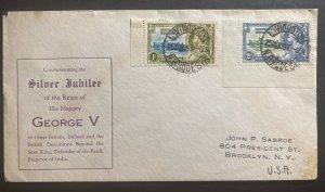 1935 Livingston Northern Rhodesia Cover King George V Silver Jubilee