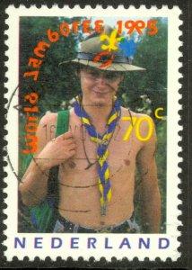 NETHERLANDS 1995 70c BOY SCOUT Issue Sc 886 VFU