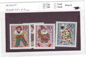 J23270 JLstamps 1970 germany berlin mnh set #9nb74-7 puppets