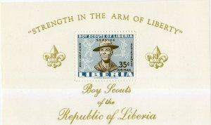 LIBERIA  C136 MH SS SCV $3.50  SCOUTS