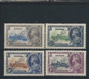NIGERIA 1935 SILVER JUBILEE SET PERF SPECIMEN UNUSED AS NORMAL SG 30s/33s